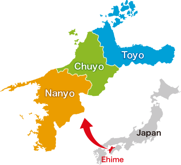 Map of Ehime